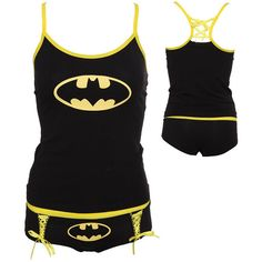 DC Comics Batman Logo Glow-In-The-Dark Tank Set (£20) ❤ liked on Polyvore featuring intimates, sleepwear, pajamas, batman, pijama, pyjamas, shirts, glow in the dark pajamas, glow in the dark pjs et dc shoes