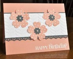 SU Pansy Punch Boho Blossoms Punch Finishing Touches Edgelits Vine Street Embossing Folder by terrie