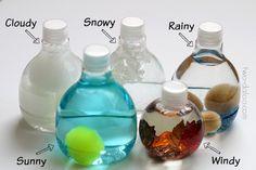 Botellitas sensoriales para el tiempo atmosférico