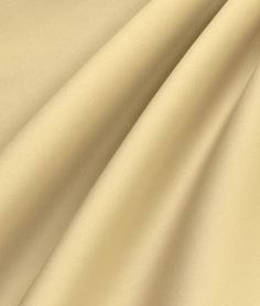 Light Gold Cotton Sateen Fabric