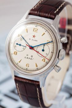 Vintage Watches Collection : Sea-Gull 1963 Air Force - Watches Topia - Watches: Best Lists, Trends & the Latest Styles Amazing Watches, Cool Watches, Watches For Men, Wrist Watches, Timex Watches, Affordable Watches, Vintage Watches, Luxury Watches, Retro