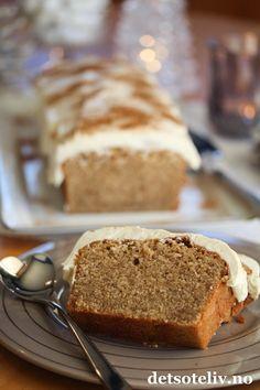 Myk pepperkake med ostekrem | Det søte liv Norwegian Food, Xmas, Christmas, No Bake Cake, Banana Bread, Nom Nom, Diy And Crafts, Bakery, Food And Drink