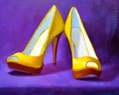 p e n e l o p e | shoe paintings by Penelope Moore, via Behance