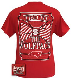 "Details: This classic fit pre-shrunk jersey knit tee is 6-ounce 100% cotton. ""Tied to the Wolf Pack"" is the perfect tee to show your pride! Available in sizes- S,M,L,XL,2X"