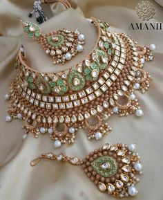 Exclusively designed by AMANII limited edition and very uniquely found design in this amazing piece of work. Available in various designs and coloursAvailable for next day dispatching Bridal Jewellery Online, Indian Bridal Jewelry Sets, Indian Jewelry Earrings, Fancy Jewellery, Wedding Jewelry Sets, Stylish Jewelry, Fine Jewelry, Fashion Jewelry, Gold Jewelry