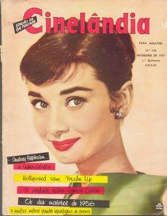 Audrey Hepburn - Cinelandia Magazine Cover [Brazil] (February 1957)