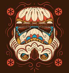 Dia de los Storm Troopers  http://www.snorgtees.com/t-shirts/sugar-skull-trooper