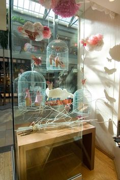 caged shoes take flight in the window #bird cages #twigs