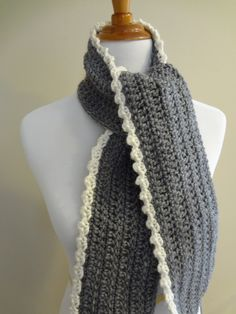 0d5e2b980db74 The Ingrid Scarf is a perfect balance of clean simplicity with a touch of  luxurious lacy edging. Have it all with this simple to crochet scarf with a  super ...