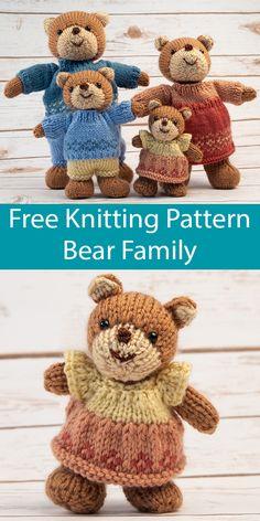 Teddy Bear Knitting Patterns- In the Loop Knitting Baby Knitting Patterns, Knitting Bear, Teddy Bear Knitting Pattern, Knitted Doll Patterns, Knitted Teddy Bear, Crochet Bear, Free Knitting, Knitting Toys, Teddy Bear Patterns
