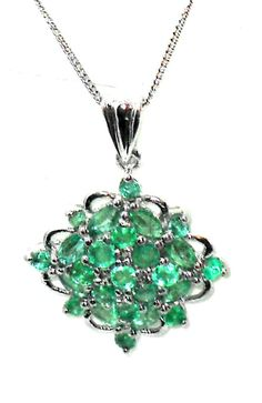 1.50ctw  Natural Zambian Emerald  Pendant with chain VALENTINES DAY http://stores.ebay.com/JEWELRY-AND-GIFTS-BY-ALICE-AND-ANN