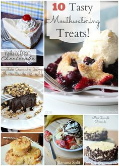 10 Tasty Treats for your next birthday, or party gathering. #desserts #pies #brownies #treats