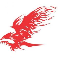 Eagle Flames iron on sticker