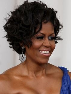 Michelle Obama Hairstyles: Shaggy Curls
