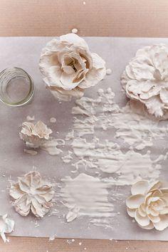 DIY plaster flower tealight holders - Susquehanna Style