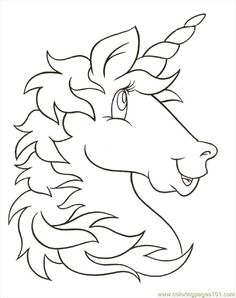 free printable coloring image unicornhead