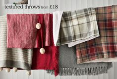 Baby it's cold outside......Throughout the winter months why not keep your toes toastie with our beautiful textured throws?