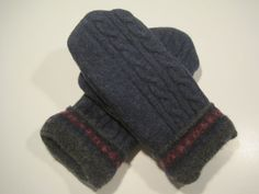 Ishpeming Wool Mittens  med/lg  MMC475 by MichMittensbyLauri, $23.00
