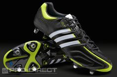 adidas Football Boots - adidas adipure 11Pro XTRX SG MiCoach - Soft Ground  - Soccer Cleats - Black-White-Slime 71cb9a44f