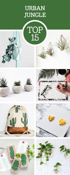 Botanische Deko: Entdecke unsere Top 15 Produkte für das Urban Jungle Feeling bei Dir Zuhause / urban jungle decoration and products for you and your home via DaWanda.com