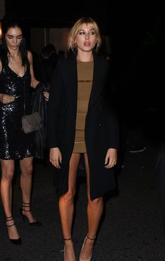 daiilycelebs:    10/1/15 - Hailey Baldwin going to the Balmain Fashion Show After Party in Paris.