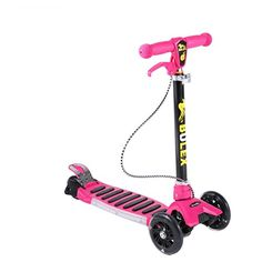 Kids Kick Scooter 3 in 1 OUTAD TBar Adjustable Scooter Handle Balance Bike Convertible Scooter Training Scooter with Basket and 4 LED Flash Wheels Red3 wheel * Want additional info? Click on the image.