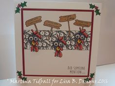 Handmade card by Martina Tidball. Hobby Art Daryl The Quirky Turkey and The…