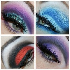 BEAUTY & MAKEUP - So in love with these beautiful cut crease looks Reenerneener created using Sugarpill and Inglot eyeshadows.