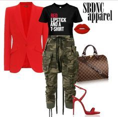 """Our most POPULAR shirt! Featuring our """"Red Lipstick and a T-Shirt"""" tee in Black! Tap the pic to… Camo Fashion, Love Fashion, Autumn Fashion, Fashion Looks, Fashion Outfits, Womens Fashion, Fashion Tips, Stylish Outfits, Fall Outfits"""