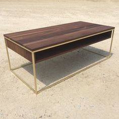 "Plastolux coffee table. Solid brass and walnut. Plastolux ""keep it modern"" and Eastvold Furniture more soon."