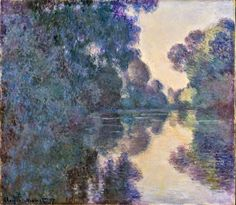 Masterpiece of Art: Claude Monet - Morning on the Seine near Giverny, ...