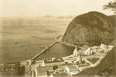 Vista da enseada, exposição do centenário. Rio de Janeiro, 1922.