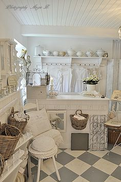 great room............white is so pretty.......never boring for me!