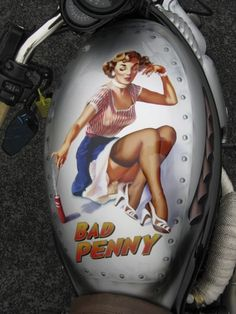 Bad Penny tank, based on pin-up girls of the 50's.