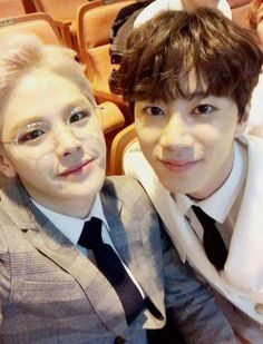Rayun (MVP) with Jun (U-Kiss) . The Unit Facebook Update