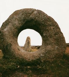 Cornwall megalith (.:.). A large rough stone, stones used as a memorial in prehistoric times