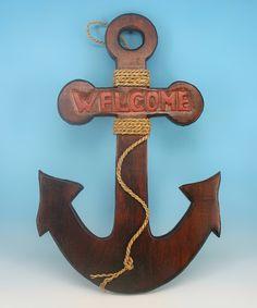 'Welcome' Anchor Wall Art by Chesapeake Bay #zulilyfinds