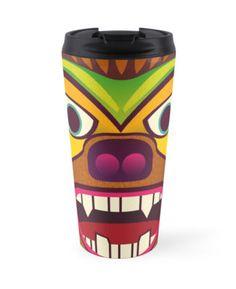 Gorilla ethnic mask travel mug