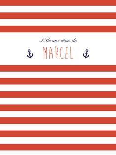 Affiche Matelot by Mr & Mrs Clynk pour www.fairepartnaissance.fr #rosemood #atelierrosemood #poster #deco #chambre #enfants #bedroom #kids