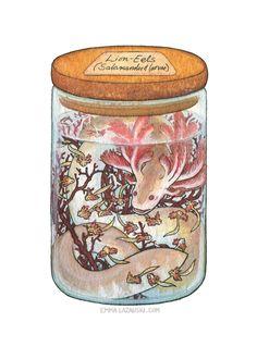 Bottled: Lion-Eels by emmalazauski