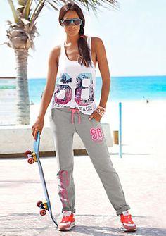 Venice Beach Sweathose im Online Shop von Ackermann Versand #Outdoor #Sport Venice Beach, Sporty, Shopping, Outdoor, Style, Fashion, Grey, Cotton, Nature