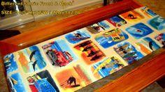 Blue surf California beach Reversible table runner by SABDECO, €41.00