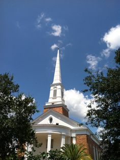 """One of many beautiful churches in Tallahassee. Our city is a part of what is informally and loosely known as the """"Bible Belt."""""""