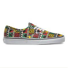 57c7551111eb2 Vans AUTHENTIC (Geo) Black   Rasta Skateboard Shoes available online now at  Black Diamond Sports