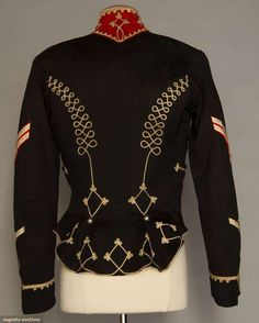 Augusta Auctions - Wool Cavalry jacket - 1889 Back-view