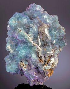 """bijoux-et-mineraux: """"Fluorite - Komshejeh Mine, Komshejeh, Ardestan County, Esfahan Province, Iran """""""