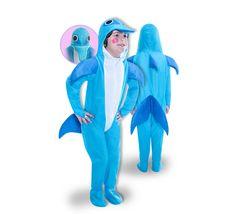 DisfracesMimo, disfraz de delfin infantil varias tallas. Será uno de los mamíferos más inteligentes y divertidos del océano. Perfecto para imitar al delfín más televisivo Flipper. Este disfraz es ideal para tus fiestas temáticas de disfraces de animales niños.