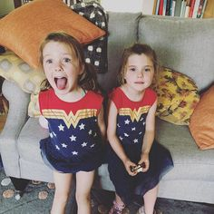 When two supergirls give you a surprise visit!
