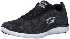 Skechers Sport Womens Flex Appeal 20 Fashion Sneaker BlackWhite Multi 8 M US *** See this great product.
