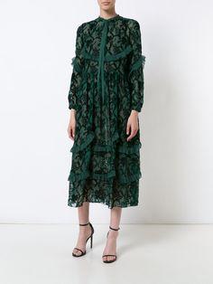 Rochas embroidered shirt dress
